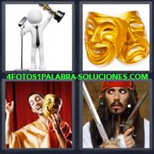 4 Fotos 1 Palabra - Caretas Pirata Ganador De Oscar Obra De Teatro |
