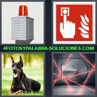 Sirena, Sistema de Seguridad, Perro dobermán, Caja Fuerte, Caja Acorazada, Bóveda de Seguridad, Laser |