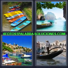 4 Fotos 1 Palabra - Canoas Barcos Gondola Piragua |