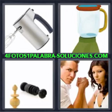 4 Fotos 1 Palabra - Batidora Licuadora Electrodomestico Pulso |