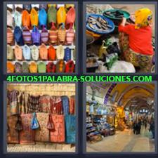 4 Fotos 1 Palabra - Bolsas Bolsos Mercado Pasaje |