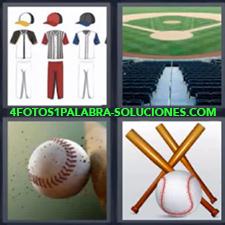 4 Fotos 1 Palabra - Bate golpeando pelota Bates y pelotas Diseños de ropa deportiva Estadio de beisbol |