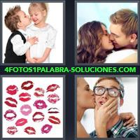 Nene besando a una nena, Pareja Besandose, besos con rouge, Chica besando a un chico |