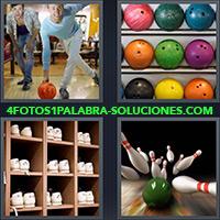 4 Fotos 1 Palabra - Hombre jugando boliche |
