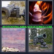 4 Fotos 1 Palabra - Bombarda Guerra Bomba Cuevas |