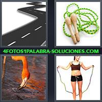 4 Fotos 1 Palabra - Saltador o cuerda de saltar |