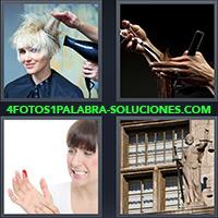 4 Fotos 1 Palabra - Mujer con un corte en su mano |