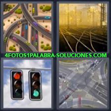 4 Fotos 1 Palabra - Semaforo O Alto Carreteras Semaforos Vias De Tren O Ferrocarril |