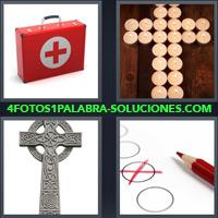 Botiquín con Cruz Roja, Cruz con Velas, Crucifijo, Cruz Roja, Lapiz Rojo |