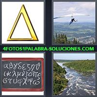 4 Fotos 1 Palabra - Pizarra con alfabeto griego |
