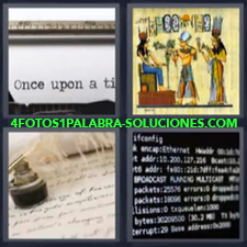 4 Fotos 1 Palabra - papiro maquina de escribir |