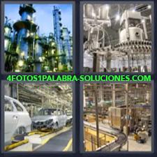 4 Fotos 1 Palabra - maquinaria fabricación, Industria de fabricación de coches. |