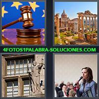4 Fotos 1 Palabra - Martillo de Juez, Ruinas |