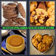 4 Fotos 1 Palabra - Cookies Galletas Pan de dulce Panqueques |