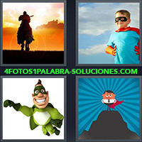 4 Fotos 1 Palabra - Niño vestido de superhéroe |