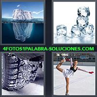 4 Fotos 1 Palabra - Iceberg o témpano de hielo |