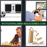 4 Fotos 1 Palabra - Hombre mayor jugando ajedrez |