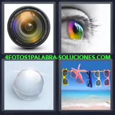 4 Fotos 1 Palabra - Cristales Gafas De Sol Ojo Optica |