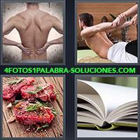 4 Fotos 1 Palabra - Carne sin cocinar, Libro abierto |