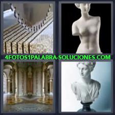 Sierra cortando mármol, Busto, Palacio, Escultura