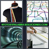 4 Fotos 1 Palabra - Líneas de metro o subte |