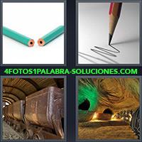 4 Fotos 1 Palabra - Lápiz roto, partido o quebrado |
