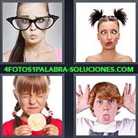 4 Fotos 1 Palabra - Mujer con gafas enormes |