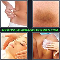 4 Fotos 1 Palabra - Mujer pellizcando su cadera |