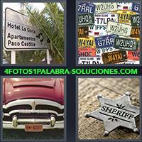 4 Fotos 1 Palabra - Placas de automóviles |