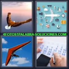 4 Fotos 1 Palabra - águila delta avión Ala delta Avión de juguete Calendario Parapente |
