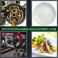 4 Fotos 1 Palabra - Plato de bicicleta |