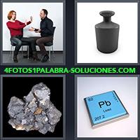 4 Fotos 1 Palabra - Símbolo Plomo en la Tabla periódica |