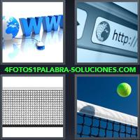 Barra buscador de internet, www, http, Pelota de tenis, Red de tenis |