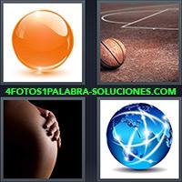 Bola naranja, Pelota de básquet o baloncesto, Mujer embarazada, Globo terráqueo o mundo