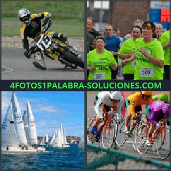 4 Fotos 1 Palabra - motorista, Maratón, Competición de vela, Ciclistas o ciclismo