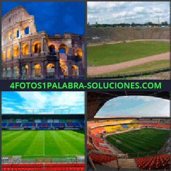 4 Fotos 1 Palabra - coliseo romano, Campo deportivo, Campos de fútbol