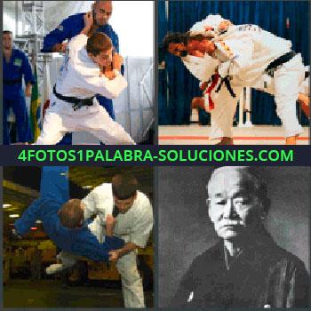 4 Fotos 1 Palabra - artes marciales, Karatekas, Lucha libre, Señor mayor o anciano