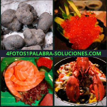 4 Fotos 1 Palabra - windows phone, Trufas, Caviar, Salmón, Bogavante