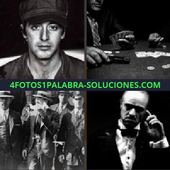 4 Fotos 1 Palabra - imágenes antiguas. Fotos en blanco y negro. Jugando al poker. Fotos antiguas