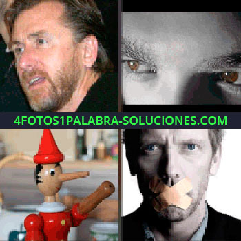 4 Fotos 1 Palabra - pinocho. Hugh Laurie Doctor House