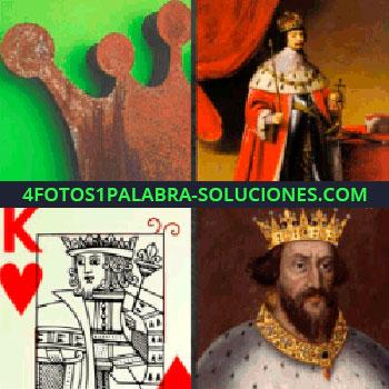 4 Fotos 1 Palabra - Corona, naipes, cartas, póker, hombre con una corona en la cabeza