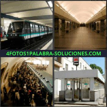 4 Fotos 1 Palabra - Tren, Tranvía, Estación de ferrocarril
