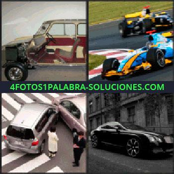 4 Fotos 1 Palabra - Carro antiguo, autos de formula 1, automovilismo, accidente de auto, carro de lujo negro, auto