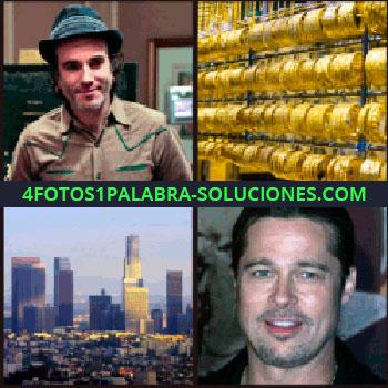4 Fotos 1 Palabra - Pulseras doradas, Brad Pitt, actor vestido de cazador, actores ciudad