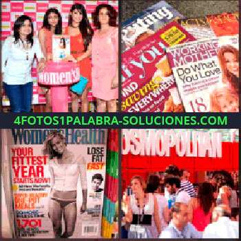 4 Fotos 1 Palabra - Chicas posando para foto, Women´s, varias revistas, Women´s Health, portada cosmopolitan