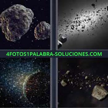 4 Fotos 1 Palabra - meteorito. Cometas. Planeta. Satélites. Basura planetaria.