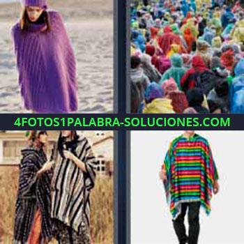 4 Fotos 1 Palabra - cuatro-letras manto. Imágenes de gente abrigada. Rebeca, chamarra o abrigo.