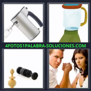 4 Fotos 1 Palabra - siete-letras batidora licuadora, Electrodomestico, Pulso