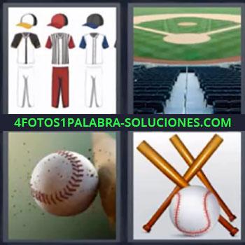 4 Fotos 1 Palabra - cuatro-letras bate de beisbol estadio, Diseños de ropa deportiva, Estadio deportivo, Bate golpeando pelota, Bates y pelotas.