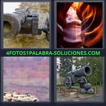 4 Fotos 1 Palabra - siete-letras bombarda guerra bomba, Cuevas